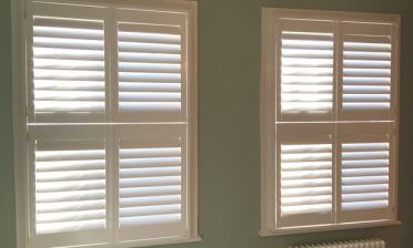 Tier on Tier Shutters for multiple Windows of House in Chislehurst, Kent