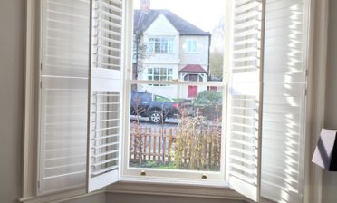 Tier on Tier Shutters for Bay Window in East Dulwich, South East London