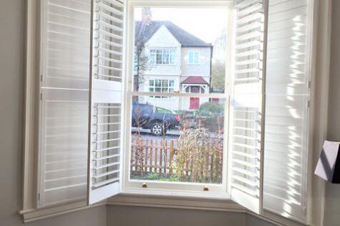 Tier on Tier Shutters for Bay Window in East Dulwich, South East London