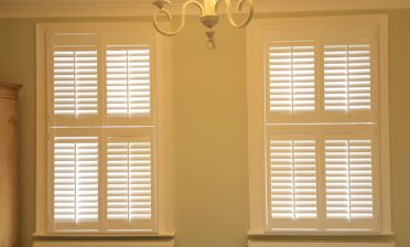 Tier on Tier Shutters for two Windows in Herne Hill, South East London