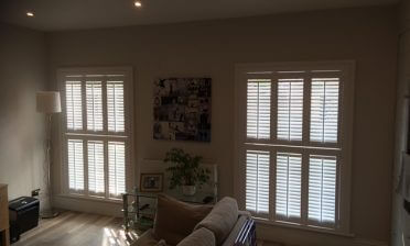 Fiji Tier on Tier Shutters for Living Room in Beckenham, Bromley