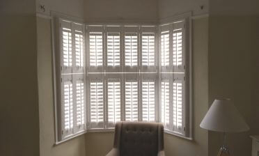 Tier on Tier Shutters for Bay Window of Home in East Dulwich, South East London