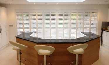 Track System Shutters fitted to home in Caterham, Surrey