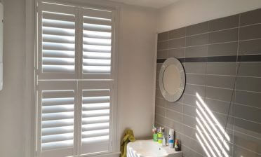 Shutters for Bathroom and Living Room in West Wickham, Kent