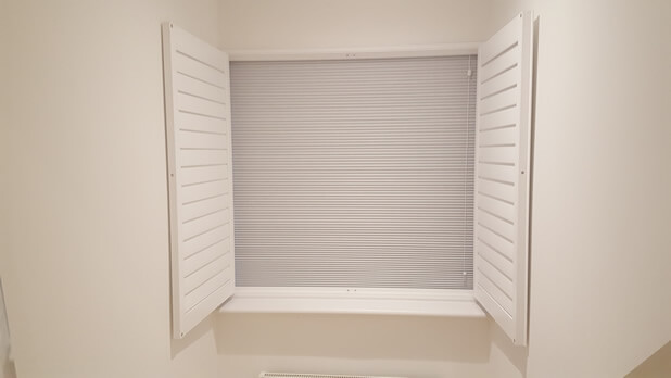 integrated blinds showing
