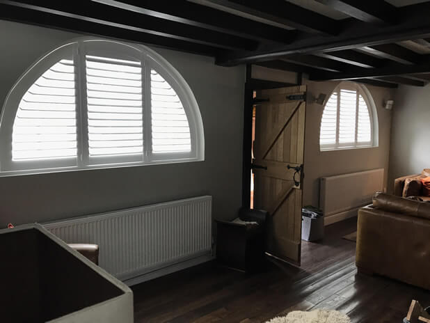 Special Shape Shutters for Cottage in Orpington, Bromley