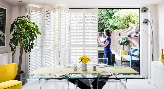 kitchen sliding shutters