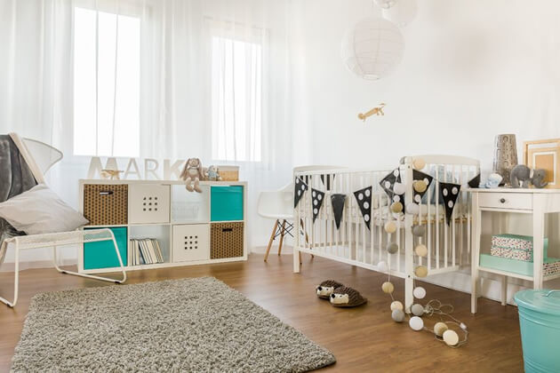 baby room with cot