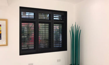 Black Plantation Shutters for Property in Bromley, Kent