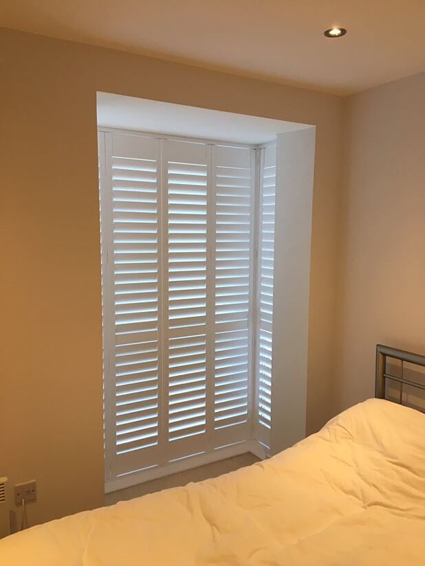 tall bedroom shutters