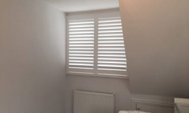 Shutters installed for a nursery and bedroom in Sunbury-on-Thames