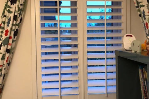 Window Shutters for Children's Bedrooms and Bathroom in Thorpe