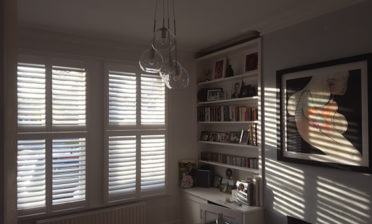 Tier on tier shutters for multiple rooms of home in Bexley, London