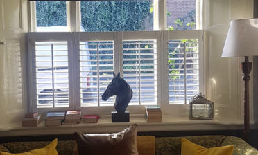 Café Style Shutters for living room and breakfast bar in East Dulwich