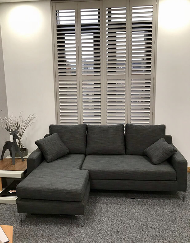 Large window shutters fitted for a local care home's office in Bromley