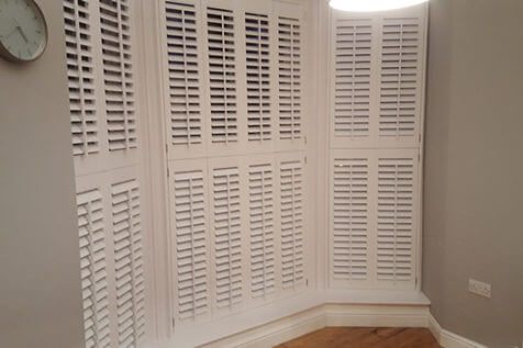 Home Office Bay Window Shutters Installed in Chessington