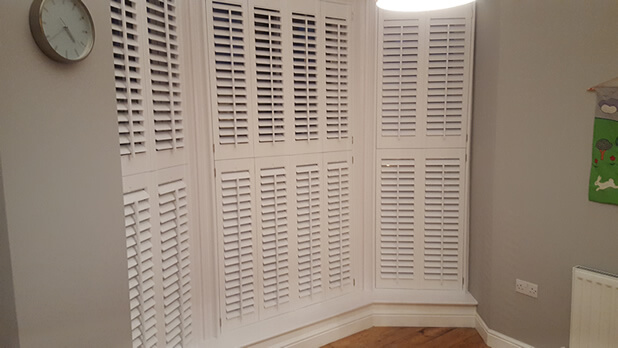 home office bay window shutters