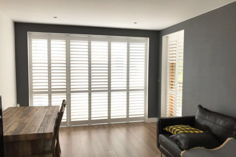 Plantation Shutters for Windows and Door of Apartment in Downe, Bromley