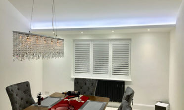Window Shutters for luxury dining room of property in Chislehurst