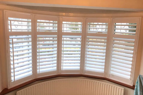 Bay Window Shutters for Living Room and Bedroom in Ilford, East London
