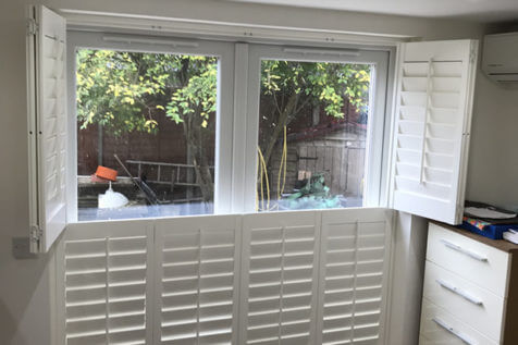 Tier on Tier Window and Door Shutters for Bedroom in Farnborough