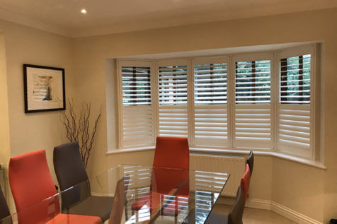 Full height shutters for two rooms of Home in Bromley, Kent