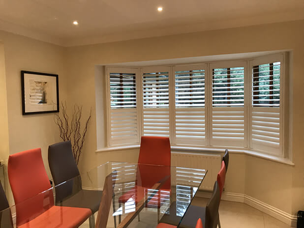 full height bromley shutters kitchen dining area