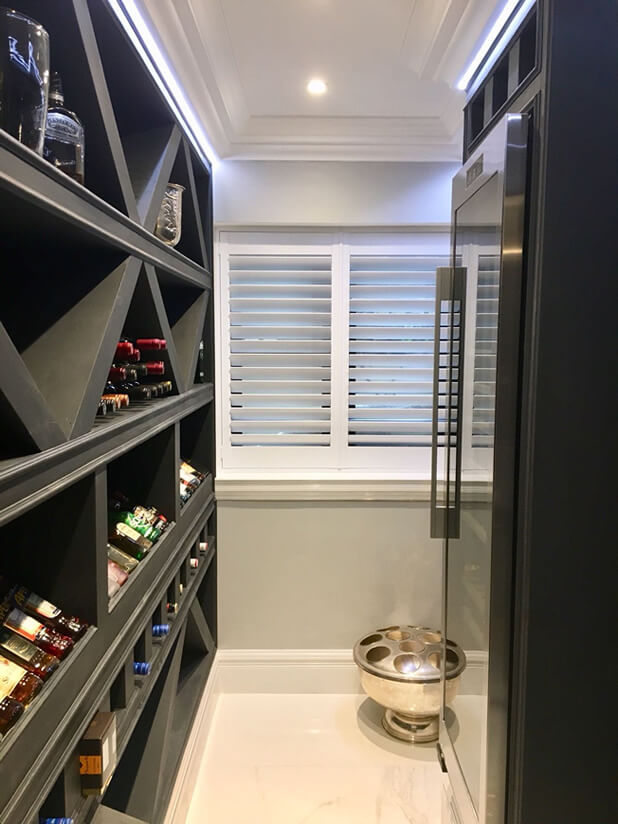 orpington property shutters wine cellar