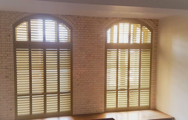 Special Shape Shutters in Custom Colour for Property in Ewell, Surrey
