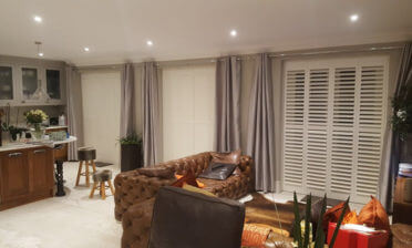 Silk White Shutters Installed throughout Home in Bromley, Kent