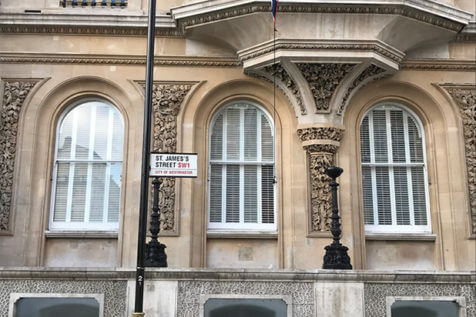 Special Shape Fiji Shutters for property in the City of Westminster, London