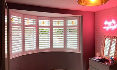 Full height Bay Window Shutters for Home in Bromley, Kent