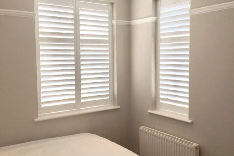 Full Height Shutters for Bedroom of Home in Bromley, Kent