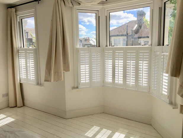 cafe style shutters layton bedroom
