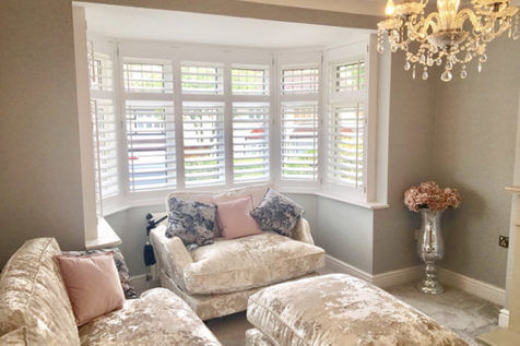 Full Height Bay Window Shutters for Home in Dartford, Kent