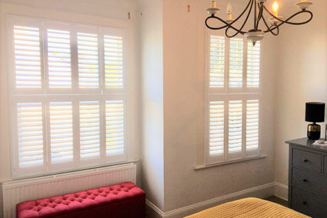 Tier on Tier Shutters for Master Bedroom of Property in Bromley, Kent