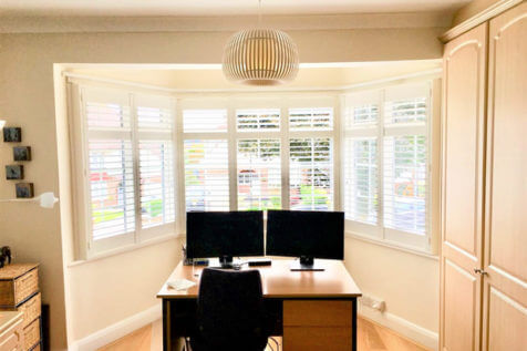 Antigua Shutters for Bay Windows of Home in Barnet, North London
