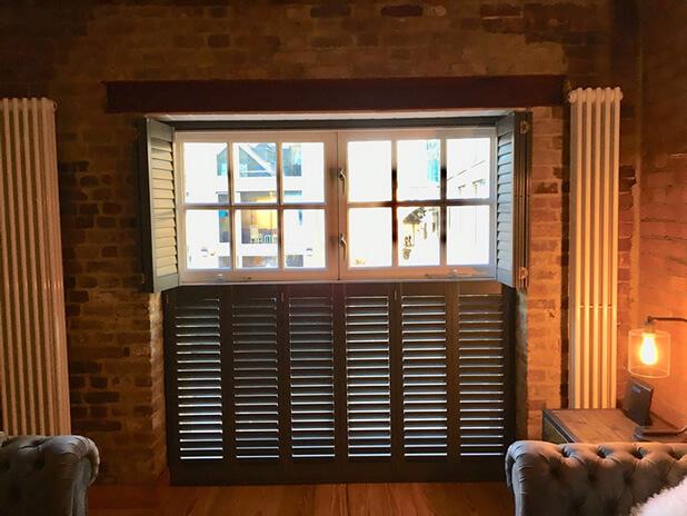 exposed brickwork shutters