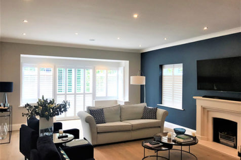 Fiji Shutters for Windows and Doors of Living Room in Beckenham, Bromley