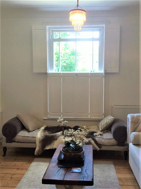 Solid Tier on Tier Shutters for Home in Bromley, Kent