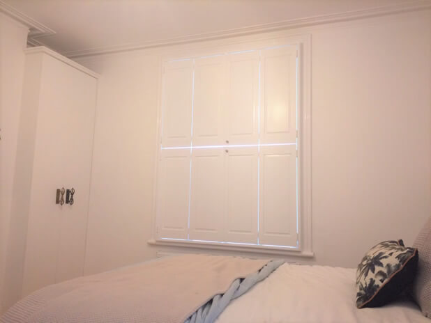 solid tier on tier shutters bromley bedroom closed