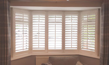 Bay Window Bedroom Shutters for Home in Beckenham