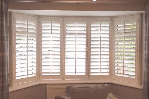 Bay Window Bedroom Shutters for Home in Beckenham