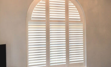 Special Shape Shutters for Living Room of Property in Barnes, London