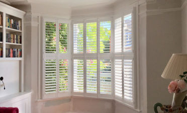 Tier on Tier Shutters for Bay Window of Property in Bromley