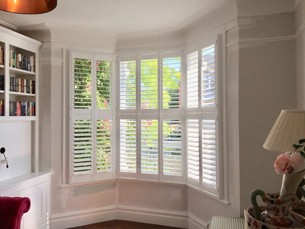 tier on tier bay window shutters bromley