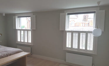 Tier on Tier Shutters for Bedroom of Property in Dulwich