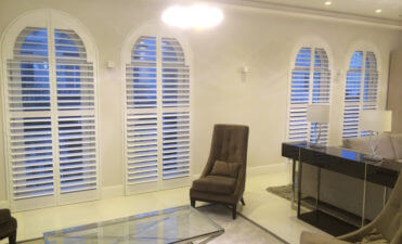 Bespoke Shaped Shutters for Arched Windows