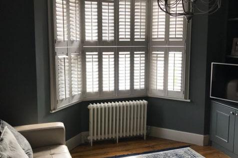 Bay Window Tier on Tier Shutters for Property in Hampstead, London