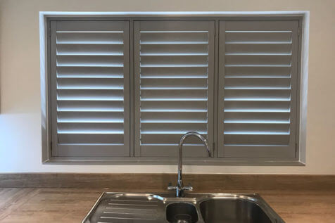 Fiji Shutters for kitchen of home in Swanley, Kent